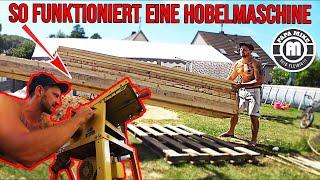 So funktioniert eine Hobelmaschine / Holz für den Spielplatz