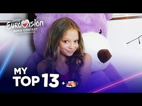Junior Eurovision 2019 - Top 13 (So far)
