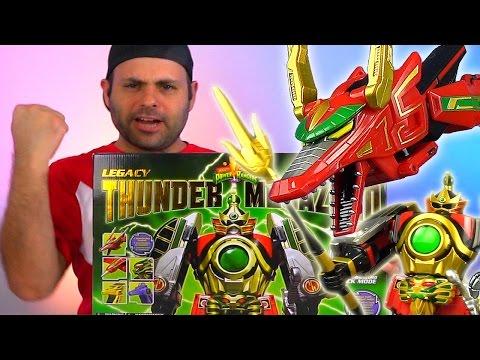 Legacy Thunder Megazord Unboxing & Review! (Power Rangers)