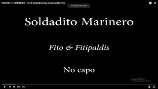 SOLDADITO MARINERO -  Fito & Fitipaldis Easy Chords And Lyrics