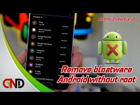 Video Cara menghapus atau menonaktifkan aplikasi Bawaan Android tanpa root