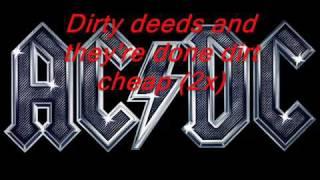 Acdc - Dirty Deeds Lyrics