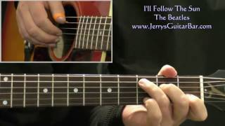How To Play The Beatles I'll Follow The Sun (intro only)