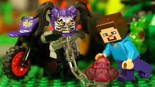 Лего Ниндзяго VS Лего Майнкрафт НУБик Lego Minecraft Animation Мультики для Детей