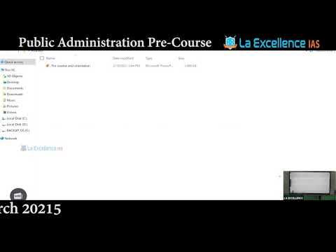 Pre-Course for optional DAY-2 | Public Administration || La ...