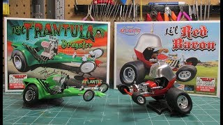 Atlantis Lil Red Baron Lil Trantula Tom Daniel 1/32 Scale Model Kit Build Review