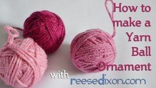 Christmas DIY: Yarn Ball Ornament