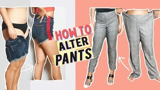 HOW TO ALTER PANTS TO FIT YOU PERFECTLY- BASIC DIY ALTERATIONS