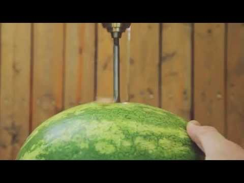 How To Make A Watermelon Vodka Slushy With A Drill And A Wire Hanger