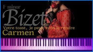 (Fmin) 투우사의 노래 (카르멘) Votre toast, je peux vous le rendre (Carmen-Escamillo) - G.Bizet (accompaniment) | noten - 노튼