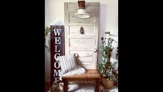 How To Build A Hall Tree From Antique Door :: Making Money From Junk Laying Around || Furniture Flip