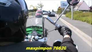 preview picture of video 'Petit tour en moto / LE HAVRE (76)'