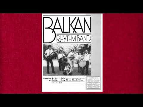 """Still image from a video made by the Balkan Rhythm Band using a track, """"Shote For Esma And Stevo,"""" from the band's Flying Fish Record's """"The Jazziest Balkan Dance Band Around"""" LP."""