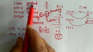 Lecture 31: Division in assembly language for unsigned