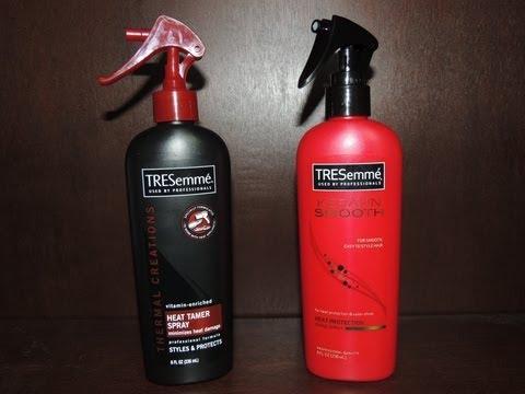 Tresemme Keratin Smooth Heat Protection Shine Spray vs. Heat Tamer Spray