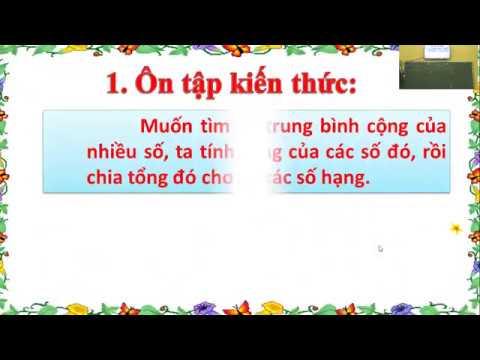 Toán lớp 1 - Dạng bài toán Tìm số trung bình cộng - Gv - Đào Thị Thanh Thảo - Trường TH Lưỡng Vượng