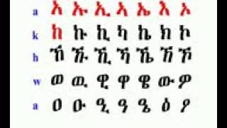 Ethiopian Language Amharic Alphabets 2 ለሉሊላሌልሎ