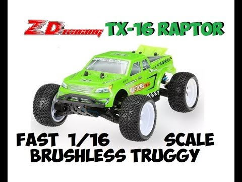 ZD RACING TX-16 RAPTOR BRUSHLESS TRUGGY REVIEW
