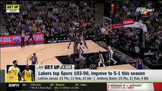 ESPN GET UP | Report: Lakers top Spurs 103-96, improve to 5-1 this season