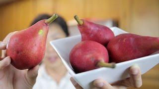 Red Pears Taste Test and Juicing | BeatTheBush