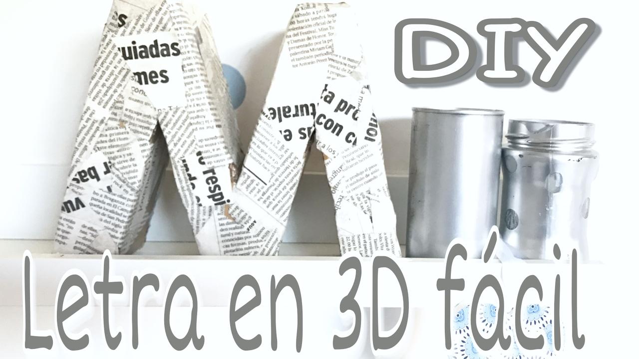 DIY/DECORA tu cuarto con LETRAS DE CARTÓN en 3D chulísimas y fáciles.