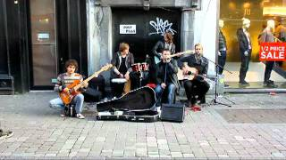 Cover of I gotta feeling(Black Eyed Peas) by the busker band Keywest on the streets of Galway.mp4