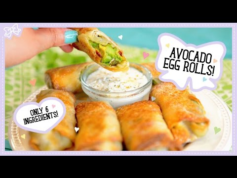 Video Avocado Egg Rolls! Healthy & Only 6 Ingredients! Cheesecake Factory Copycat Recipe!