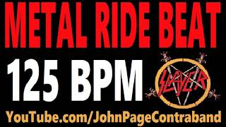 Metal Ride Beat 125 bpm Slayer Style Drums Only Track Loop
