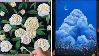9 Canvas Paintings For Beginners | Easy Painting Ideas