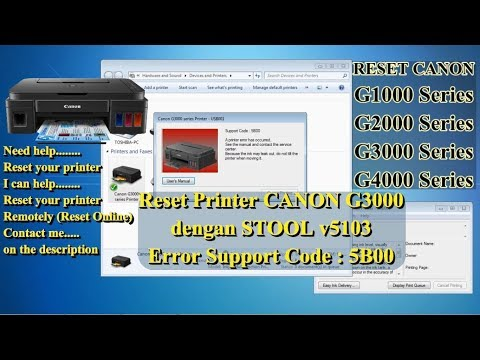 Canon service tool download g1000