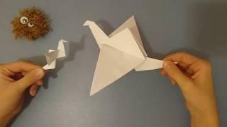 Бумажный журавлик Paper cranes Origami