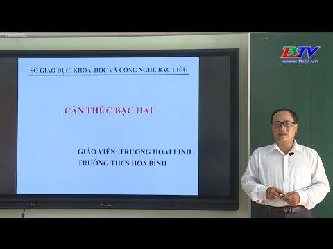 Môn Toán: Căn thức bậc hai - 30/3/2020