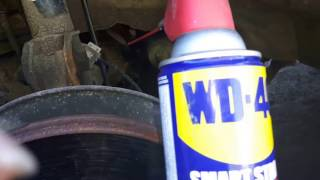 Part I: DIY WD40 fix for noisy strut bearing or streering squeaks