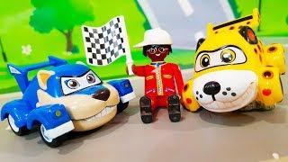 Мультики про машинки. Приключение Петровича в мультике Супер гонки. Видео для детей