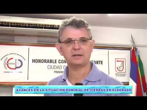 """Avances en el Registro Dominial de Tierras y Programa """"Hábitat"""" en Eldorado"""