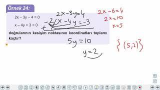 Eğitim Vadisi TYT Matematik 11.Föy I.Dereceden İki Bilinmeyenli Denklem Sistemleri 2 Konu Anlatım Videoları