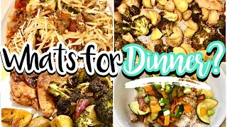 WHAT'S FOR DINNER? THREE EASY DINNER RECIPES | COOK WITH ME | NOVEMBER 2019