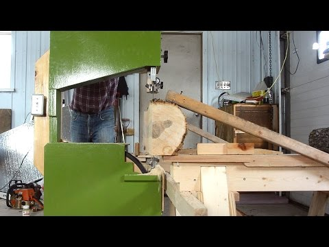 Bandsaw-on-a-dolly sawmill improvements download YouTube