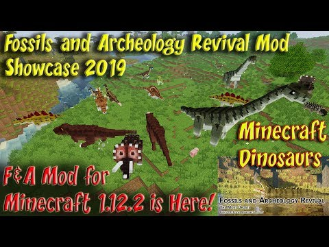 Fossils and Archeology Mod 1.12.2 Dinosaur & Animal Showcase 4k 60FPS