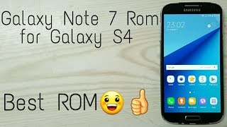 How to install Note7 Rom on GT i9500( S4 )!! Morphose Nougat