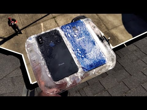 IPhone Xs Vs Galaxy S9+ Frozen In ICE Drop Test! Mp3