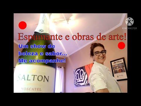 VINHO ESPUMANTE SALTON E OBRAS DE ARTE. Sommelier e Curadora