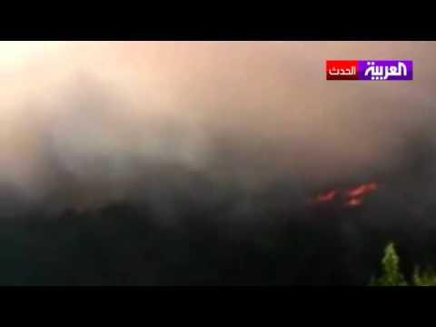 النظام السوري يحرق محاصيل جبل الأكراد