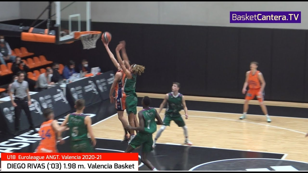 DIEGO RIVAS (´03) 1.98 m. U18M Valencia Basket. Euroleague B. #AdidasNGT 2020/21 (BasketCantera.TV)