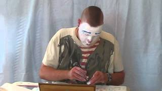 Whiteface Clown Makeup Demonstration
