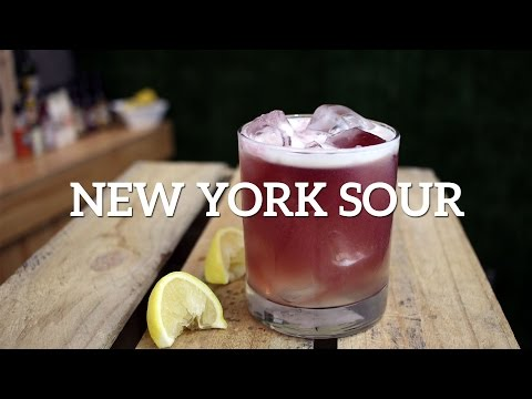 New York Sour Cocktail Recipe