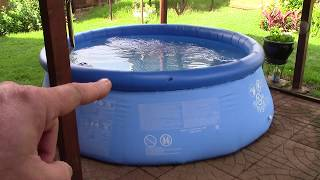 Intex Easy Set 8 X 30 Backyard Pool & Pump (on Solar Power!)