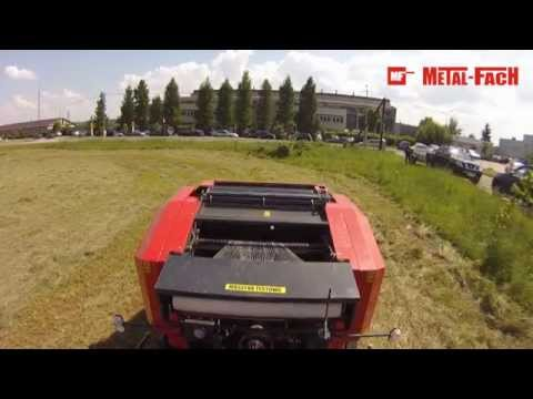 Metal-fach Rundballenpresse Z562 TOP-AGRO incl Zentralschmierrung Netz