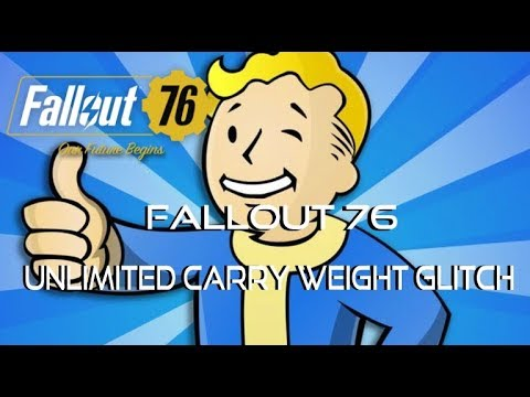 Fallout 76 *UNLIMITED* Carry Weight Glitch | Very Helpful (PATCHED) - Karpo  Gaming