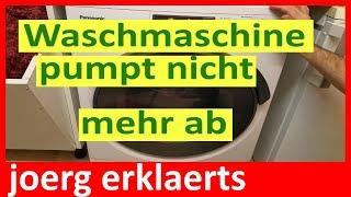 Waschmaschine pumpt nicht mehr ab Fehler U 11 beheben Panasonic Vol.71